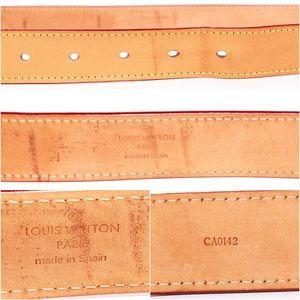 Louis Vuitton Accessories - LOUIS VUITTON Vachetta Riveting Belt - 38 in